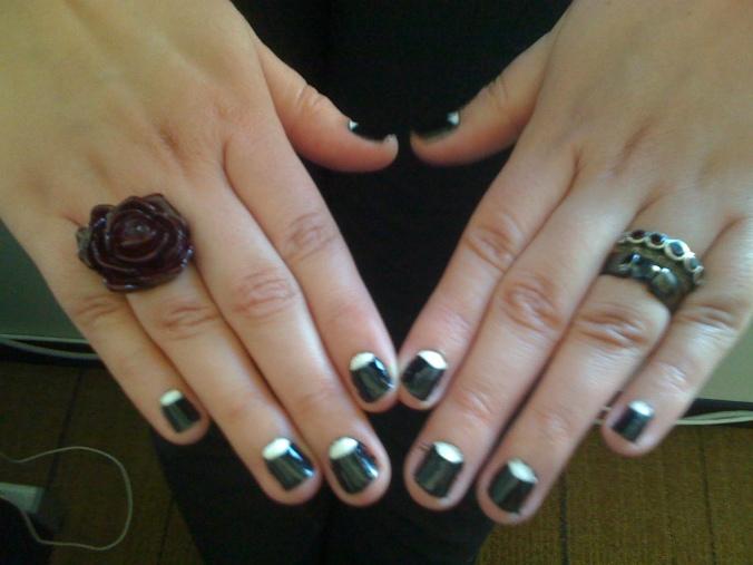 30s Moon Manicure